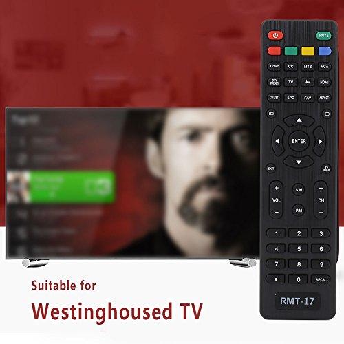 Fernbedienung, Rmt-17 Controller Rmt-17 Fernbedienung Portable Infrarot Schwarz Television Ersatz für Vr2218 Vr3215 Ew24T3 - Westinghouse Hdtv Tv