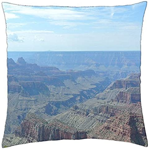 Grand Canyon View From Bright Angel Point–Manta Funda de almohada (18