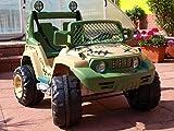 Elektroauto Kinderfahrzeug suv Jeep grün Kinderauto Kinderelektroauto Buggy Kinderfahrzeug 12 Volt RC