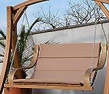 ASS Design Hollywoodschaukel Bank aus Holz Lärche 2-Sitzer Belize-Lounger (ohne Gestell) inkl. Auflage von