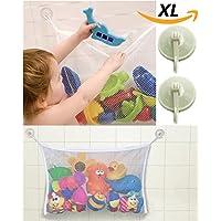 Preisvergleich für liltourist Bad Spielzeug Organizer, Badewannen Spielzeug Aufbewahrung, Badewannen-Spielzeugnetz, Netz mit starken Saugnäpfen für Fliesen, Glas und mehr