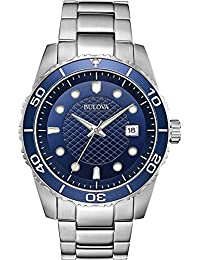 Bulova Mens Analogue Quartz Watch with Stainless Steel Strap 98A194