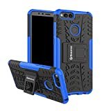 Bracevor Shockproof Huawei Honor 7X Hybrid Kickstand Back Case Defender Cover - Blue