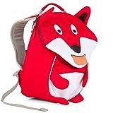 Affenzahn Kinder-Rucksack mit Brustgurt für 1-3 jährige Jungen und Mädchen im Kindergarten oder Kita der kleine Freund Frida Fuchs - Rot