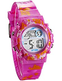 a3df23e186d7 JewelryWe Relojes para Niños Niñas Reloj Deportivo Digital Para Aire Libre  Reloj Infantil De Color Violeta