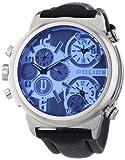 Police - PL.13595JS-13 - Montre Homme - Quartz Analogique - Cadran Bleu - Bracelet Cuir Noir