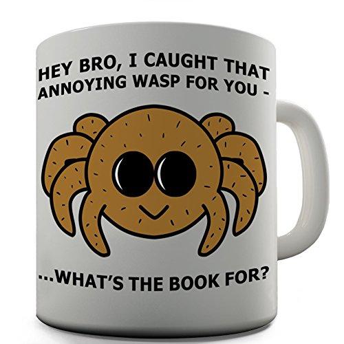 Shaggy Hochflor Teppich Funny Design Bro Spinne Geschenk Tee Kaffee Tasse aus Keramik im Büro (Twisted Spinnen)