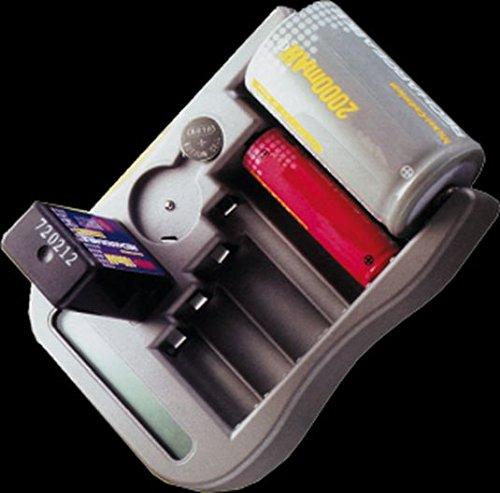 Tester per Batterie Pile AA, AAA, C, D, 9V e Bottone Dotato di LCD Display