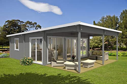 *CARLSSON Garten-und Freizeithaus Carroz-Modern 70 ISO, 70 mm Wandstärke (598 x 598 cm + 300 cm)*