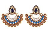 Rejewel 22k Gold Plated Antique Earrings...