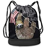 Rtytgfdw Multi-Functional Unisex Make Sloth Great Again Beam Mouth Backpack