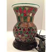 Woodwick corpo mosaico marocchino Flared–caldi/Bruciatore elettrico per candele Yankee