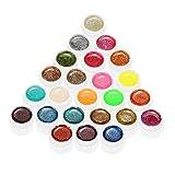 Anself Mix di Colori Glitter Gel per Unghie Gel UV Art Polvere Polacco Estensione Professionale UV Gel Set immagine
