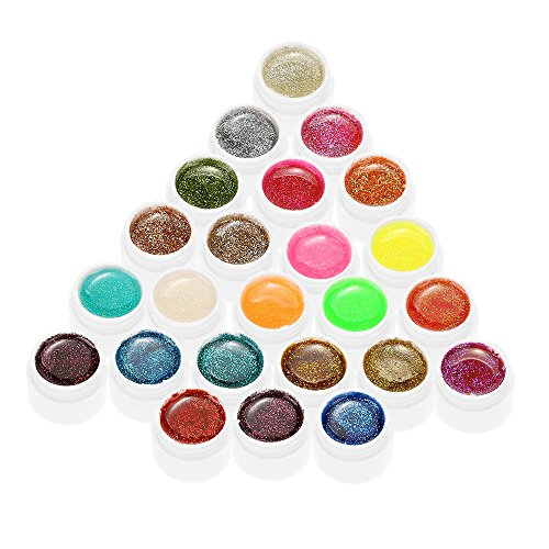 Anself mix di colori glitter gel per unghie gel uv art polvere polacco estensione professionale uv gel set