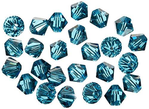 Rayher Hobby 14219392 Swarovski perline di cristallo, 6mm, scatola 25 pezzi, turchese