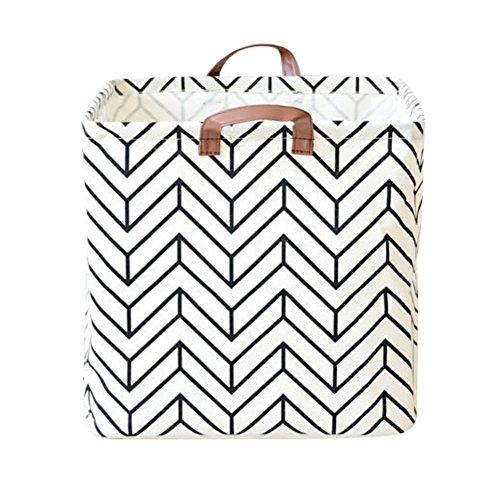 Qlan Waterproof Folding Storage Basket or Bin Home Organizer Solution for Office, Bedroom, Closet, Toys, & Laundry 5170aY6LbGL