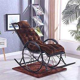 Coussins de Chaise Longue Matelas pour Chaises Longues Oreiller,Coussin De Chaise Longue, Fauteuil À Bascule Coussin De…