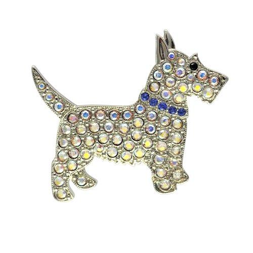 Kostüm Ballroom Strictly - Cristalina Scottie Dog Swarovski-Kristalle Aurora Borealis Kristall