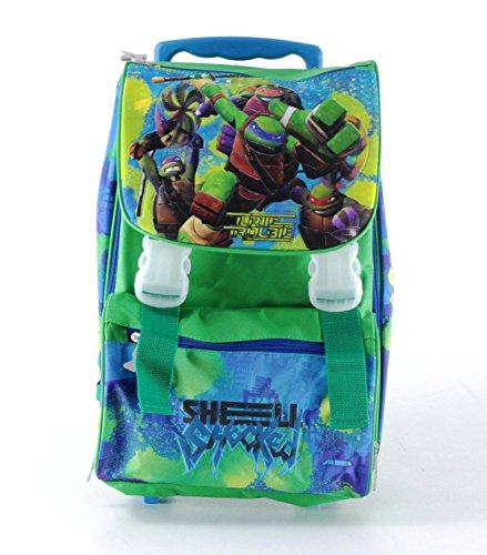Zaino trolley estensibile teenage mutant ninja turtles cm 40x27x13 (+7)