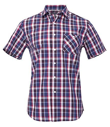 Banqert Herren Hemd Kurzarm, Faire Löhne, Certified Cotton, Holzfäller Hemden kariert-e Herrenhemden für Männer, Mixed Karo, XL X-Large