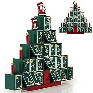 calendrier de l 39 avent pyramide en bois remplir soi m me cuisine maison. Black Bedroom Furniture Sets. Home Design Ideas