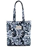 Gifts Flowers Food Best Deals - [HotStyle con stampa] Floral Design - Borsa shopper Borsa a tracolla, S012, Grey (multicolore) - HTSUS012C