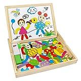 Puzzle Legno Magnetico Lavagna Magnetica Legno Giocattoli Animali Jigsaw Puzzle Lavagna Double Face Giochi Montessori per Bambini 3 4 Anni