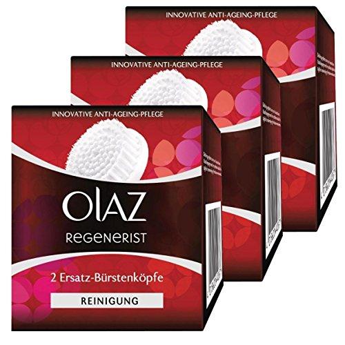 Olaz Regenerist 2 Ersatz-Bürstenköpfe für das 3 Zonen Reinigungssystem (3er Pack)