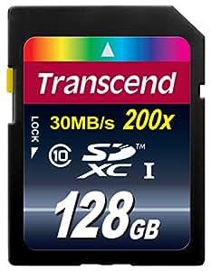 Transcend Extreme-Speed SDXC 128GB Class 10 Speicherkarte (bis 22MB/s Lesen) [Amazon Frustfreie Verpackung]