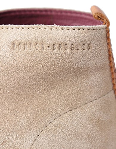 London Brogues  Caxton, Desert boots femme rose clair