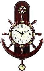 Jaipurcrafts Webelkart Plastic Pendulum Wall Clock (32 cm X 32 cm X 5 cm, Brown)