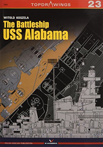 The Battleship USS Alabama (Top Drawings) por Witold Koszela