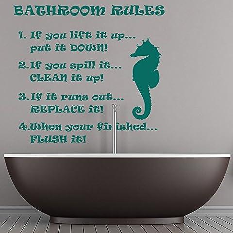Regole da bagno Seahorse parete di disegno