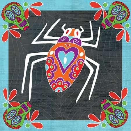 Feeling at home, Poster, Kunstdruck fuer Rahmen - Bild, Tag der Toten Spider IV cm 91x91