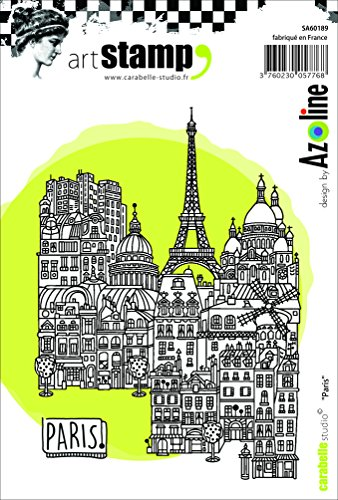 Carabelle Studio SA60189 A6 Cling Stempel - Paris, Rubber, White Transparent, 10 x 14 x 0.5 - Dem Gummi-stempel Mit Namen
