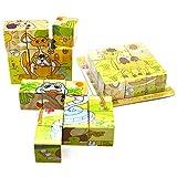 1 Pack Juguetes de madera de los niños para los niños Juguetes de madera del rompecabezas Juguetes educativos que aprenden Juguetes de madera (Forest)
