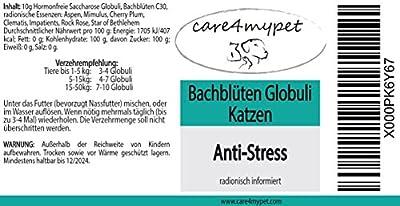 """Bachblüten Globuli speziell für Katzen """" Anti Stress zur Beruhigung - bei Schreckhaftigkeit & Angst"""" die sanfte Hilfe für Katzen Potenz C30 von Care4mypet - Du und dein Garten"""