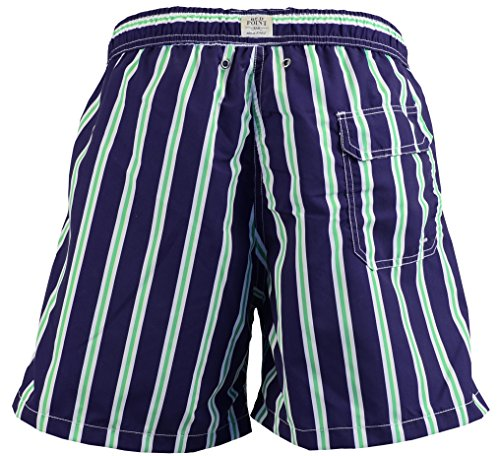 Red Point Beachwear, Herren, Badeshorts, Anton, Streifenmuster Marineblau