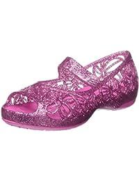 Crocs Isabella Glitter Flat Ps Wldorcd, Bailarinas Niñas