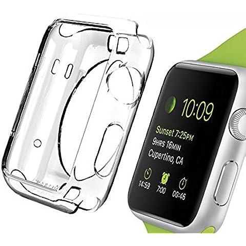 Evtech (tm) de Apple Watch (38mm), iWatch Protector con Ultra-delgada transparente TPU cubierta completa protección de borde