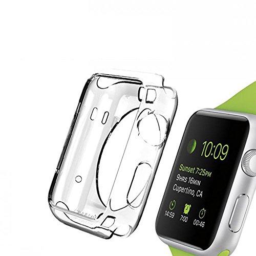 Evtech (tm) Apple-Watch (38mm), iWatch Protector mit ultradünne transparente TPU-Volldeckung-Kantenschutz