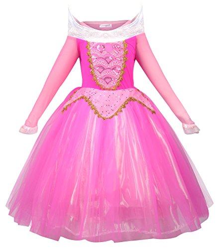 ssin Aurora Kostüm Mädchen Rosa Party Kleid (120cm, Rosa) (Aurora Kostüm Mädchen)