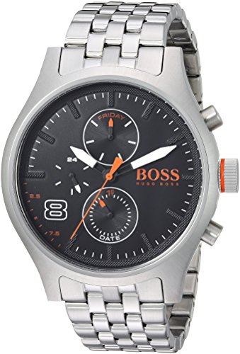 BOSS Orange Men's Quartz Stainless Steel Casual Watch, Color Silver-Toned (Model: 1550024)