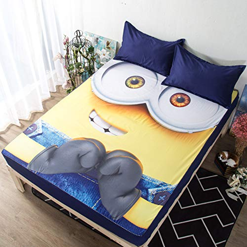 huyiming Verwendet für koreanische Druckbettabdeckung Matratzenschutzabdeckung 1.5/1.8m Bettabdeckung rutschfeste Bettlakenabdeckung Verdickung 120cm * 200cm (Monster High Puppen Bett)