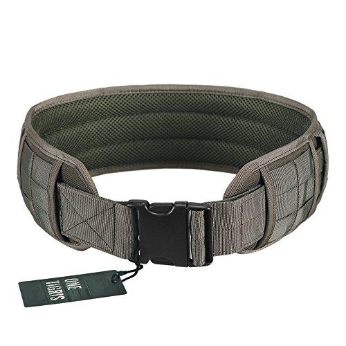 OneTigris Einstellbare militärischen taktischer Gürtel mit Abnehmbaren Dicken Pad, 1000D Nylon (Ranger Grün, L)