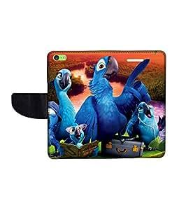 KolorEdge Printed Flip Cover For Apple IPhone 5C Multicolor - (43KeMLogo09690IPhone5C)