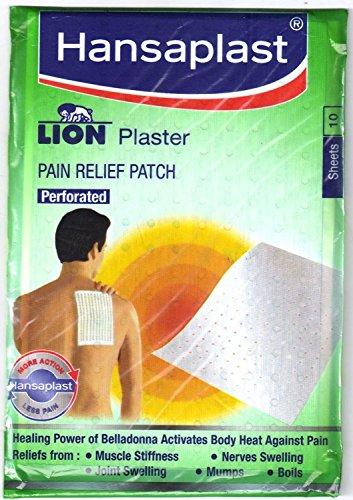 buycrafty Hansaplast Lion Pflaster (Belladonna) 3Pack (30Blatt) Schmerzlinderung Patch