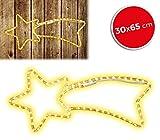 75181 Stella cadente natalizia luci CALDE telaio in metallo 65 x 30 cm. MEDIA WAVE store