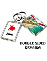 CALENDARSFORLOVE 0147 FLORIDA KEYRING I HEART USA LANDMARKS, USA ATTRACTIONS LLAVERO