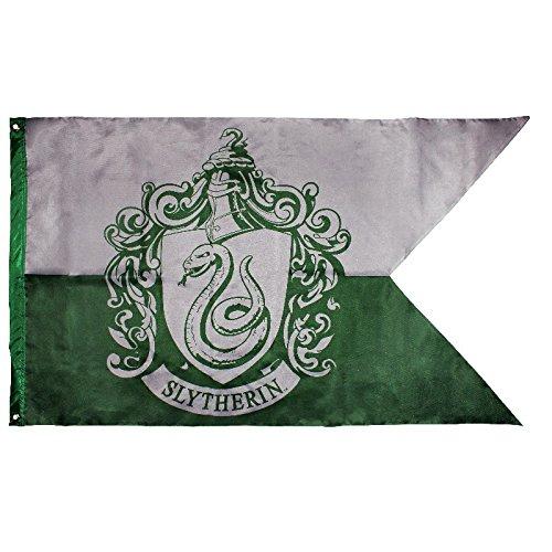 Accesorio Harry Potter - Bandera de la Casa Slytherin [Escudo de Armas]